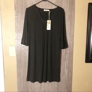 Black boutique dress with 3/4 bell sleeve